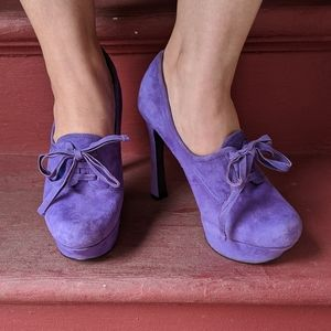 GUESS Purple Suede Heels
